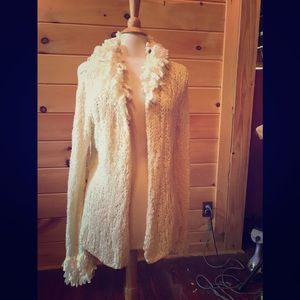 Boston Proper ivory cardigan sweater, never worn,M